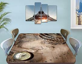 Виниловая наклейка на стол Пиратская карта и Компас, наклейки для декора столов и мебели, серый 60 х 100 см, фото 3