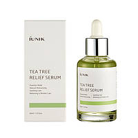 Успокаивающая сыворотка для лица с чайным деревом Tea Tree Relief Serum - IUNIK