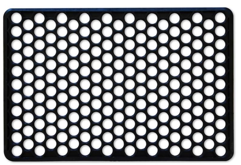 Коврик резиновый Украина черный 71 х 57 х 1.5 см (66-158)