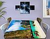 Виниловая наклейка на стол Тайланд горы и лодки самоклеющаяся пленка с рисунком море, зеленый 60 х 100 см, фото 3