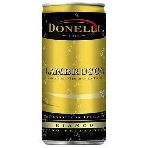 Вино біле напівсолодке ігристе Donelli Lambrusco IGT ж / б 200 мл Італія