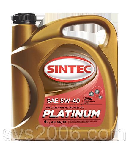 Масло моторне 5W-40 SINTEC Platinum SN/CF, 4л, синтетика