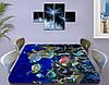 Виниловая наклейка на стол Морские рыбы в воде декоративная пленка с ламинацией аквариум, синий 60 х 100 см, фото 3
