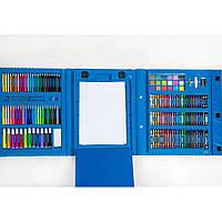 Набор художника для творчества 208 предметов Голубой
