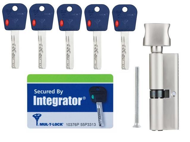 Комплектация Цилиндр Mul-t-lock Integrator ключ поворотник -фото1