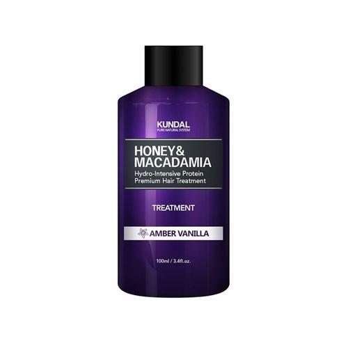 """Кондиціонер для волосся """"Бурштинова ваніль"""" KUNDAL Honey & Macadamia Treatment Amber Vanilla 100ml"""