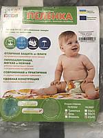 Непромокаемая детская пеленка ЭкоПупс Premium, бязь, 65х90 см