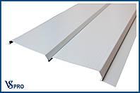Сайдинг фасадный металлический Евро-Брус, RAL 9006 Цвет Бело-алюминиевый (глянец).