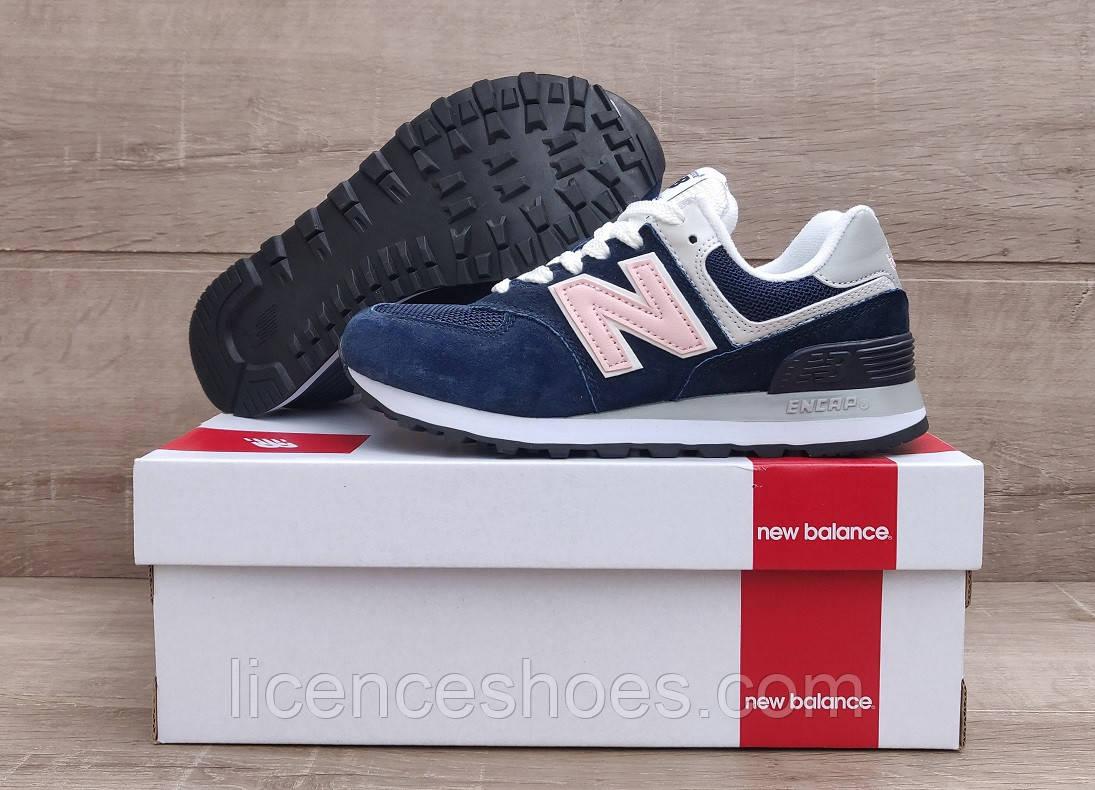 Жіночі кросівки New Balance 574 Blue / White / Pink