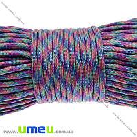 Шнур паракорд семижильный меланж 4 мм, Разноцветный, 1 м (LEN-024934)