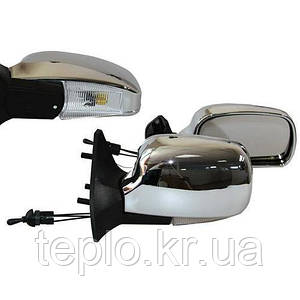 Дзеркало бічне ЗБ 3107П/LADA 04,05,07/CHROME/LED хром