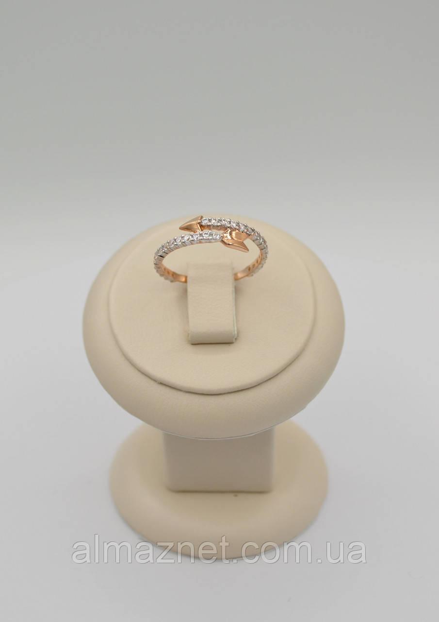 Золотое кольцо без накладок Стрелы Купидона