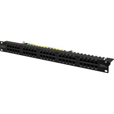 """Патч-панель DIGITUS 19"""" 1U 50 портов cat.3 UTP в сборе, black (DN-91350-1-B)"""