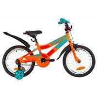 """Детский велосипед Formula 16"""" RACE рама-9"""" 2019 оранжево-бирюзовый (OPS-FRK-16-072)"""
