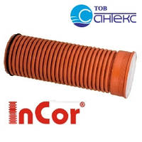 Труба, SN8, d 400мм x 6000мм, гофрированная Инкор (Incor), двухслойная, для канализации