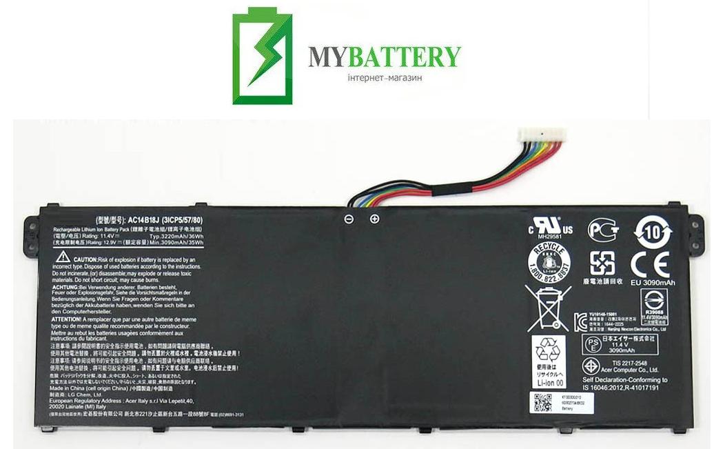Аккумуляторная батарея Acer AC14B18J Aspire E3-111 E3-112 E3-112M ES1-511 ES1-512 V3-111Chromebook 11 CB3-111