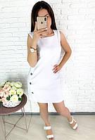 """Летнее льняное платье-мини """"SINAIA"""" без рукавов"""