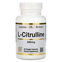 Аминокислоты California Gold Nutrition L-цитруллин 500mg, 60caps