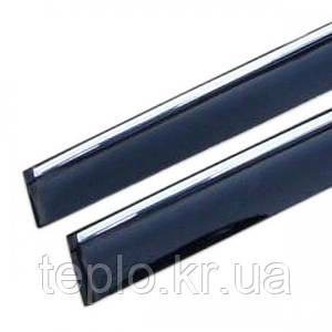 Дефлектори вікон Infiniti FX35/50 2009 -> С Хром Молдингом