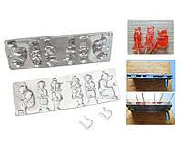Форма алюминевая для леденцов и конфет «Медведи» 2 медведя 4 гномика