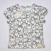 Дитяча футболка звірі на білому Five Stars KD0326-128р