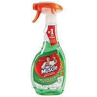 Мистер Мускул для стекол и зеркал, зеленый распылитель 500мл