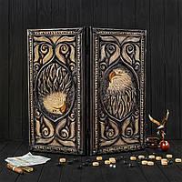 Деревянные нарды ручной работы, оригинальный подарок, фото 1