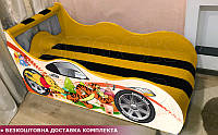 Кровать машина ВИННИ ПУХ Hipe Drive  комплект от 1500х700, фото 1