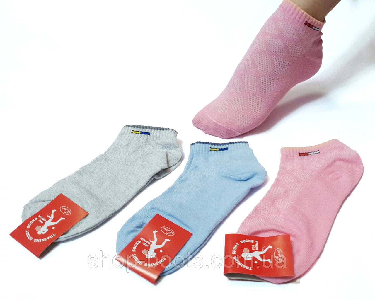 Жіночі короткі шкарпетки сіточка оптом. 36-40рр.