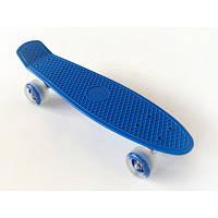 Пенни борд Penny Board 220 со светящимися колесами | Синий