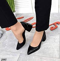 Туфли на каблуке из натуральной кожи