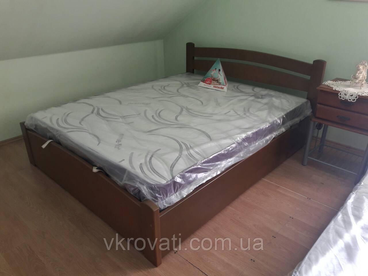 Кровать Деревянная с подъемным механизмом Милана Люкс
