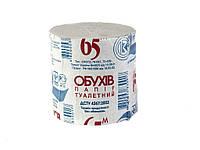 Туалетная бумага без гильзы Обухов 1шт*65м серая