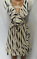 Платье на запах с принтом женское (ПОШТУЧНО)
