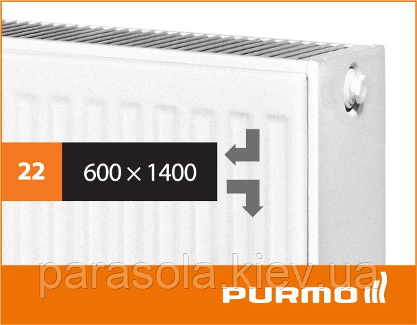 Сталевий панельний радіатор PURMO Compact 22 600x 1400