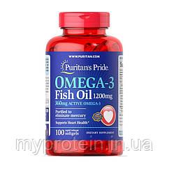 Puritan's Pride Омега 3 Рыбий жир Omega-3 Fish Oil 1200 mg  100 softgels