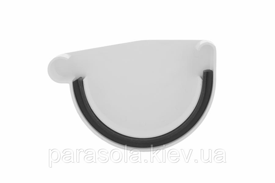 Заглушка ринви Profil ліва L 130 біла