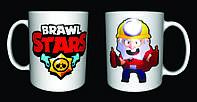 Чашка с принтом Бравл Старс Dynamike