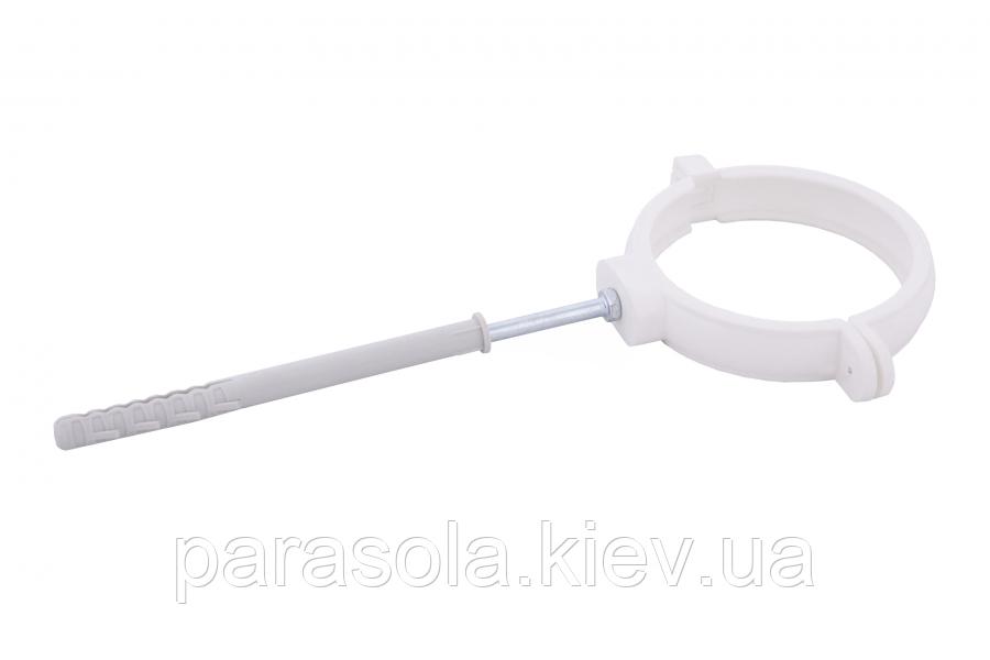 Держак труби Profil пласт. L160 90 білий