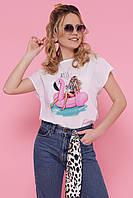 Женская летняя блузка с принтом
