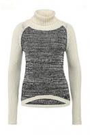 Женский вязаный свитер свободного покроя
