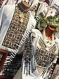 """Чоловіча вишиванка із багатою вишивкою у білому кольорі """"Подільське золото"""", фото 2"""