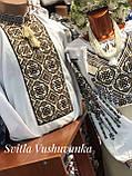 """Чоловіча вишиванка із багатою вишивкою у білому кольорі """"Подільське золото"""", фото 3"""