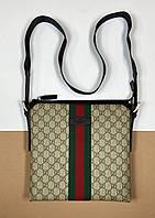 Плоская сумка-мессенджер Gucci