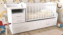 Дитяче ліжко Art-In-Head ДЛ-23 Ромашка Білий Супермат 1732х950х732