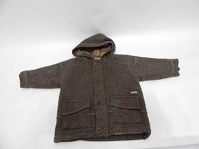 Пальто детское с капюшоном утепленное полушерстяное Confetti, 18мес.,  036д
