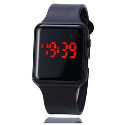 LED Watch, часы молодежные светодиодные цифровые унисекс. Black.