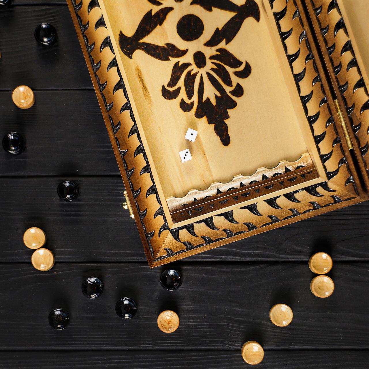Нарды из дерева ручной работы, красивый подарок, фото 6