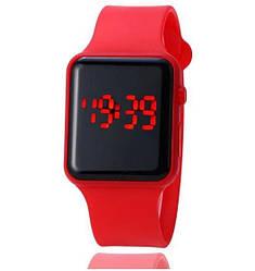 LED Watch, часы молодежные светодиодные цифровые унисекс. Red.