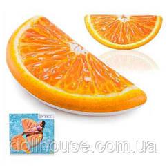 """Матрац Intex 58763 EU (6) """"Апельсин"""" помаранчевий, 178 х 85 см, від 12-ти років"""